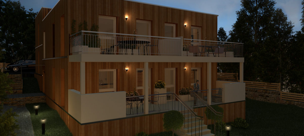 Holzhaus-Visualisierung